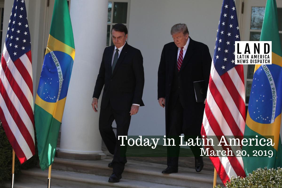 Trump, Bolsonaro Swap Praise, Soccer Jerseys at Washington Meeting