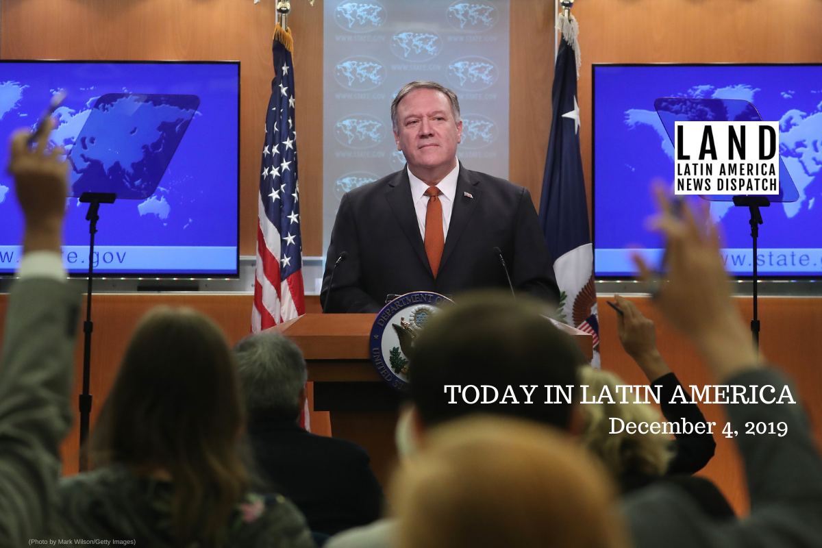 Pompeo: US To Prevent Protests From 'Morphing Into Riots' In Latin America - Latino USA