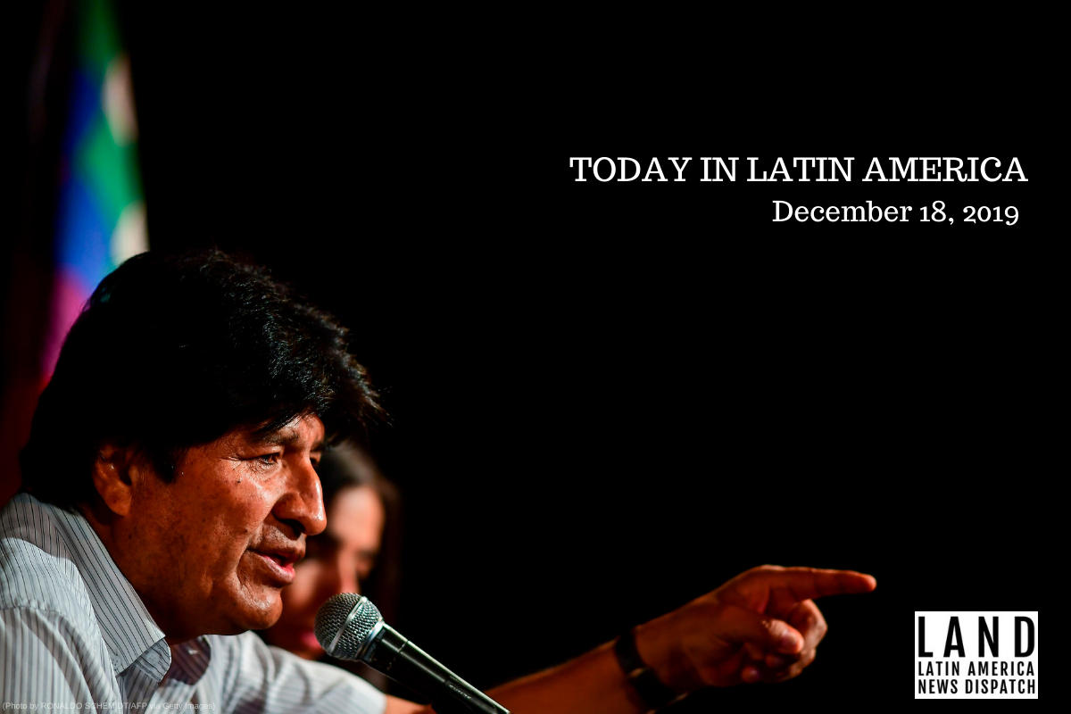 Arrest Warrant Issued against Evo Morales